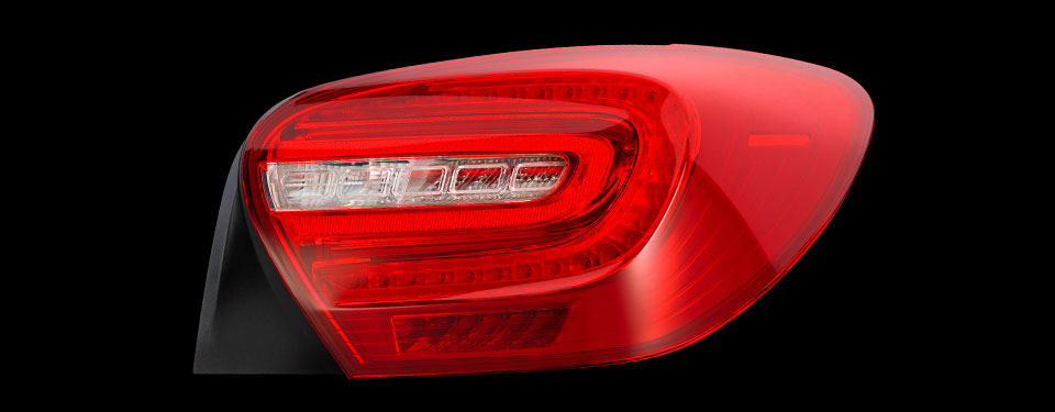 First full-LED rear light in compact class