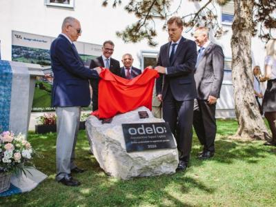 Foundation stone laying - odelo Slovenija d.o.o. in Prebold